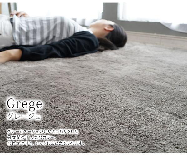 マイクロセレクト ラグマット TS200【洗える/おしゃれ】グレージュの使用画像