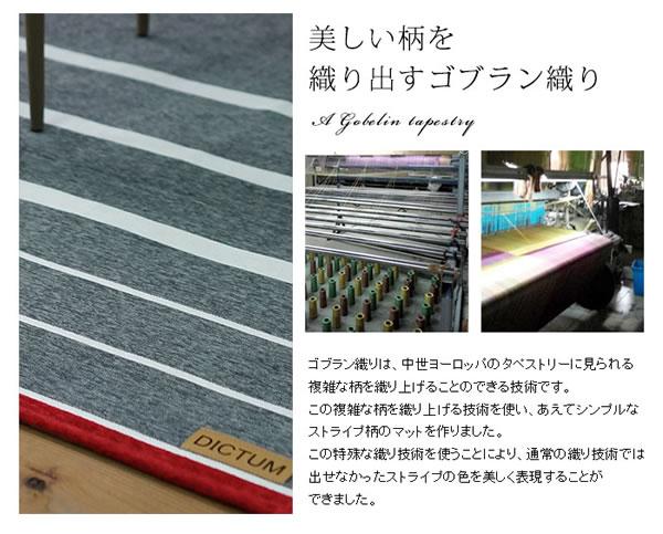シェニールゴブラン織り ラグマット TS500【おしゃれ】のゴブラン織り説明画像