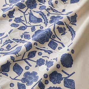 遮光カーテン クコ(CUCO)1枚入【北欧/おしゃれ】ブルーの詳細画像