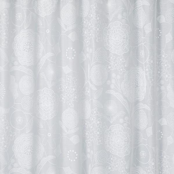 レースカーテン イハナボイル 1枚入【北欧/おしゃれ】の詳細画像