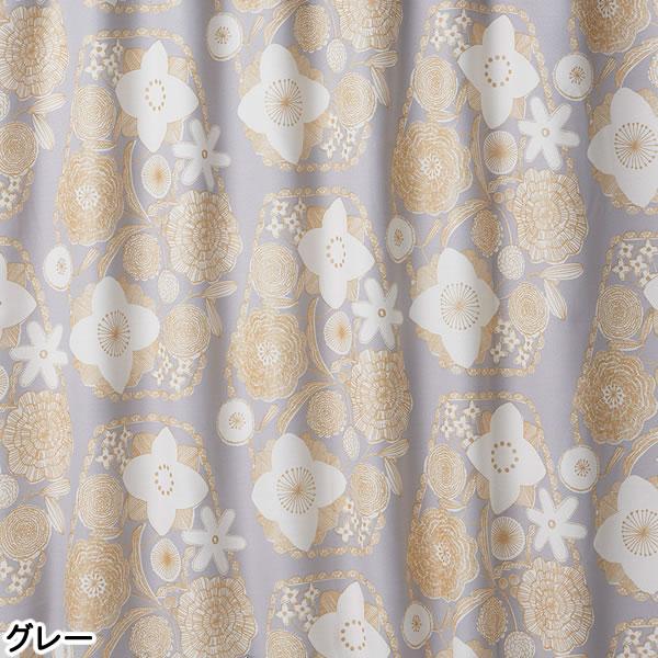 遮光カーテン イハナ(IHANA)1枚入【北欧/おしゃれ】グレーの全体画像