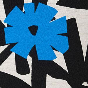 スミノエのクッションカバー クチナシ(KUCHINASHI)【北欧/おしゃれ】ブラックの詳細画像