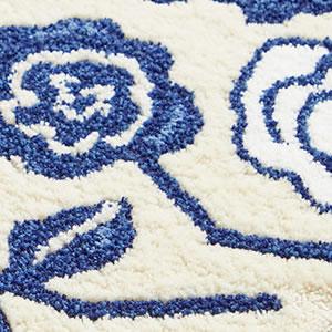 玄関マット クコ(CUCO)【北欧/おしゃれ】ブルーの詳細画像