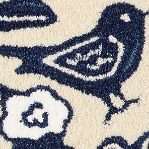 玄関マット クコ(CUCO)【北欧/おしゃれ】ブルーのコトリ詳細画像