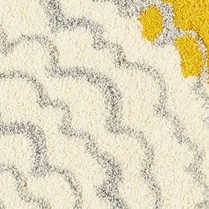 玄関マット イハナ(IHANA)【北欧/おしゃれ】イエローの花詳細画像