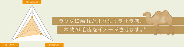 ラグマット キャメル フレーテ(Camel-furete)【円形/四角形/おしゃれ】の肌触り感グラフ画像