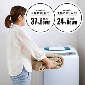 ラグマット カルル(CaRuRu)フィルメ【洗える/小さく畳める/大幅軽量化】の洗濯画像
