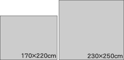 ダイニングラグマット イルシオ(ILLUSIO)【北欧/おしゃれ】のサイズ説明画像