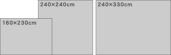 スミノエのラグマット ストラシック(STRACHIC)【ペルシャ絨毯/ヴィンテージ/メダリオン】のサイズバリエーション画像