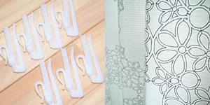 スミノエの北欧風遮光カーテン フラワーリングの付属品画像