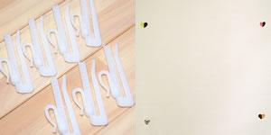 スミノエの北欧風遮光カーテン ハートドットの付属品画像