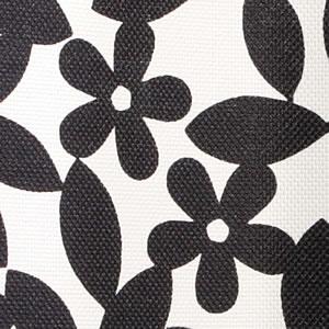 スミノエの北欧風遮光カーテン ペタル ブラックのファブリック詳細画像