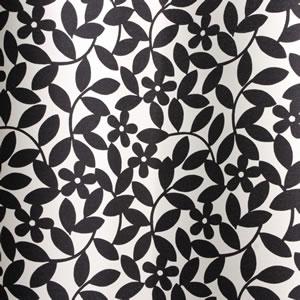 スミノエの北欧風遮光カーテン ペタルのブラック詳細画像