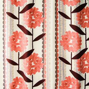 スミノエの遮光カーテン ケイランサス 1枚入【北欧カーテン/インテリア】ピンクのファブリック詳細画像