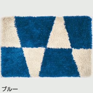 スミノエの玄関マット MOM601 フラッグ【おしゃれ】ブルーの全体画像
