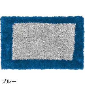 スミノエの玄関マット MOM601 スクエアー【おしゃれ】ブルーの全体画像