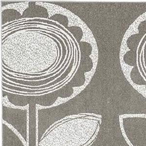 スミノエのラグマット サンフラワー【おしゃれ/北欧インテリア】グレーのデザイン画像