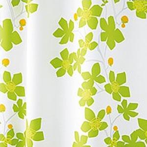 スミノエの北欧風遮光カーテン エゴ グリーン 1枚入【北欧インテリア】のファブリック詳細画像