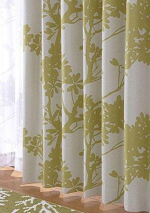 スミノエの北欧風遮光カーテン ツリー グリーン 1枚入【北欧インテリア】の使用画像