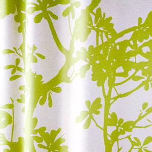 スミノエの北欧風遮光カーテン ツリー グリーン 1枚入【北欧インテリア】のファブリック詳細画像