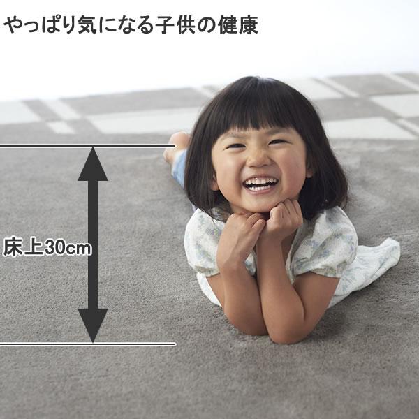 スミノエのラグマット【おしゃれ/北欧デザイン】と子供の画像