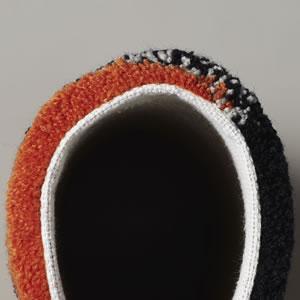 スミノエのラグマット メリ(MERI)【おしゃれ/北欧インテリア】の折り曲げ画像