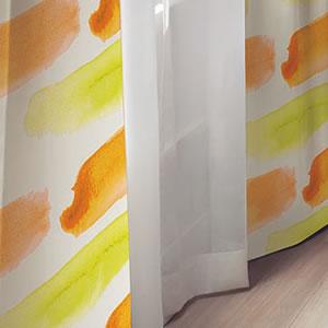 スミノエの遮光カーテン ソラ 1枚入【北欧/おしゃれ】イエローの使用画像