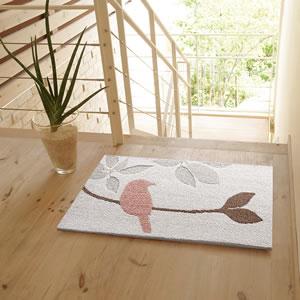 スミノエの玄関マット パラキート(PARAKEET)【おしゃれ/インテリア】ピンクの使用画像2