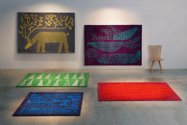 鈴木マサル氏とスミノエが生み出した5枚のラグマット画像。