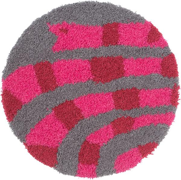 スミノエのチェアパッド キャンディーヘビ(candyhebi)35×35cm【北欧/おしゃれ/鈴木マサル】の全体画像