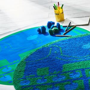 スミノエのラグマット リンゴノキ(lingonoki)90×90cm【円形/おしゃれ/鈴木マサル】の使用詳細画像