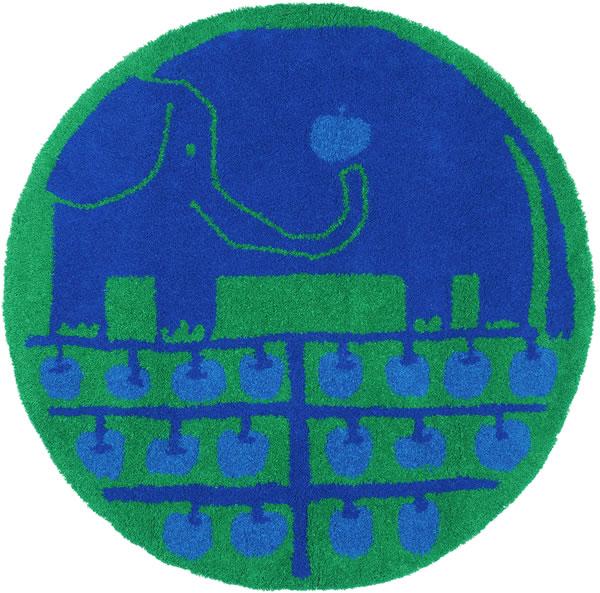 スミノエのラグマット リンゴノキ(lingonoki)90×90cm【円形/おしゃれ/鈴木マサル】の全体画像