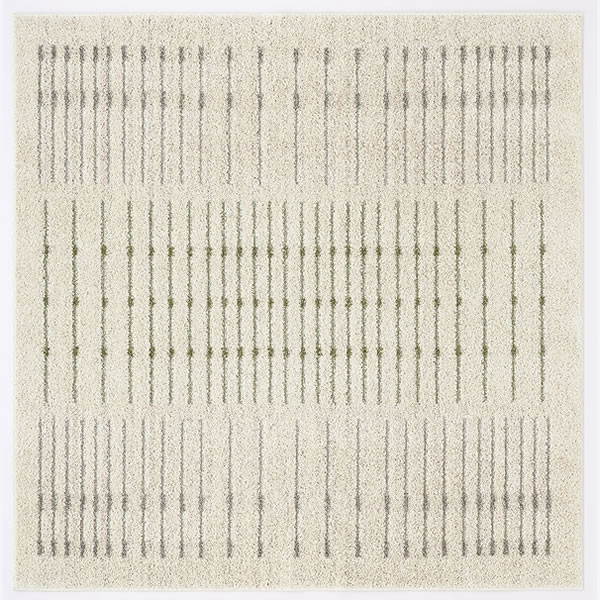 スミノエのラグマット ラインドット(LINE DOT)【おしゃれ/通年】アイボリーの全体画像