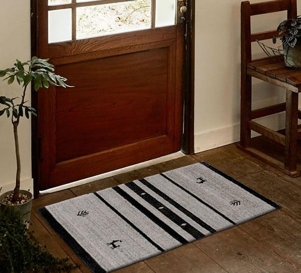 スミノエの玄関マット NOM101 45×75cm【ギャベ/おしゃれ】アイボリーの使用画像