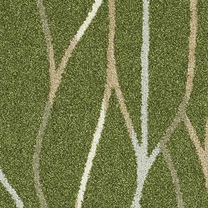 スミノエのラグマット カラーライン(COLOR LINE)【おしゃれ/通年】グリーンの詳細画像