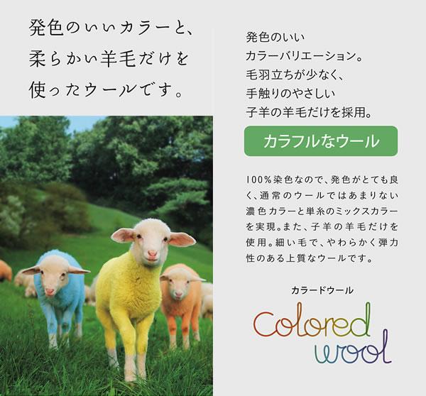 ラグマット リコルド(RICORDO)【おしゃれ/ウール】のカラードウール使用説明画像