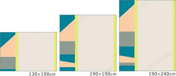 スミノエのラグマット クールガーデン 夏/冬 通年【おしゃれ】の各サイズの画像