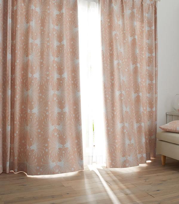 遮光カーテン カサネ(KASANE)1枚入【北欧/おしゃれ】ピンクのディスプレイ画像