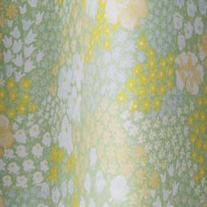 遮光カーテン オハナバタケ(OHANA BATAKE)1枚入【北欧/おしゃれ】ライトグリーンの詳細画像