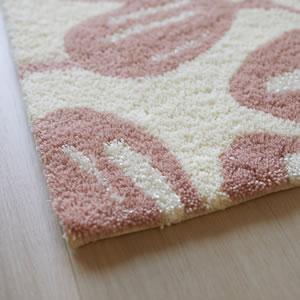 スミノエの玄関マット ユーカリ【おしゃれ/北欧インテリア】ピンクの使用画像
