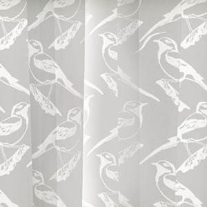 スミノエのイヴァナ ヘルシンキ(Ivana Helsinki)レースカーテン リントゥ ボイル(Lintu voile)1枚入【おしゃれ/北欧カーテン】ホワイトの詳細画像