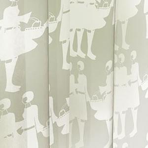 スミノエのイヴァナ ヘルシンキ(Ivana Helsinki)レースカーテン ティットケルホ ボイル(Tyttokerho voile)1枚入【おしゃれ/北欧カーテン】ホワイトの詳細画像
