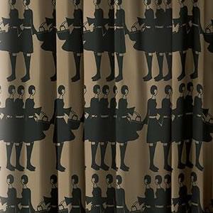 スミノエのイヴァナ ヘルシンキ(Ivana Helsinki)遮光カーテン ティットケルホ(Tyttokerho)1枚入【おしゃれ/北欧カーテン】ブラウンの詳細画像
