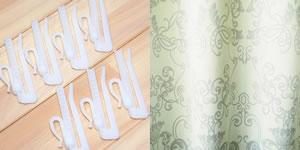 スミノエの北欧風カーテン チャーチの付属品画像