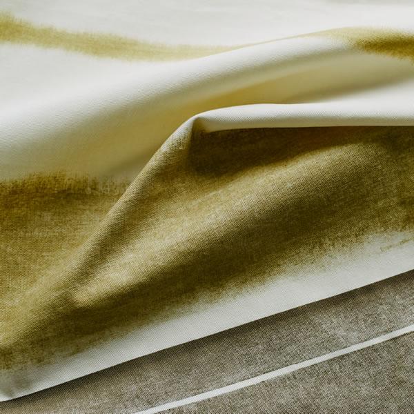 スミノエの既製カーテン コルネ トロワ(Trois)1枚入【おしゃれ/洗濯】ベージュの生地画像