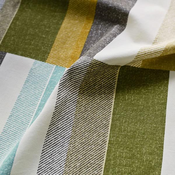 スミノエの既製カーテン コルネ ウィーヴ2(Weave2)1枚入【おしゃれ/洗濯】グリーンの生地画像