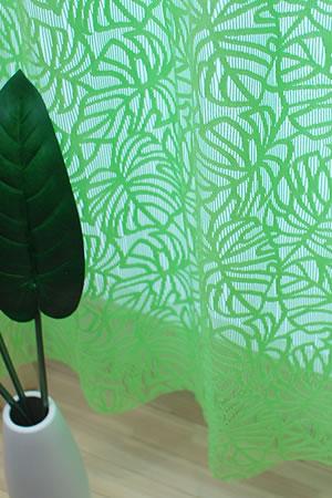 ファニーストリングカーテン モンステラ(Monstera)95×176cm【パネルカーテン/ハワイアン】グリーンの使用画像