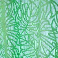 ファニーストリングカーテン モンステラ(Monstera)95×176cm【パネルカーテン/ハワイアン】グリーンの生地詳細画像
