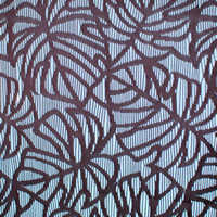 ファニーストリングカーテン モンステラ(Monstera)95×176cm【パネルカーテン/ハワイアン】ブラウンの生地詳細画像