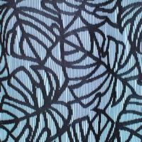 ファニーストリングカーテン モンステラ(Monstera)95×176cm【パネルカーテン/ハワイアン】ブラックの生地詳細画像